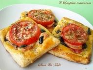 Recette tarte feuilletée avec tomates, saucisse et olives