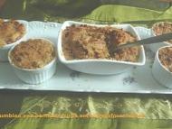 Recette petits crumbles aux pommes et fruits secs
