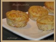 Recette bouchées au jambon et fromage