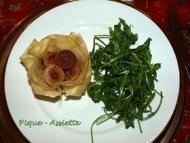 Recette croustillant de boudin blanc aux pommes et oignons