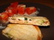 Recette croque monsieur courgette, boursin et saumon fumé