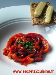 Recette salade de poivrons rouges grillés