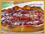 Recette tarte aux légumes et mozzarella