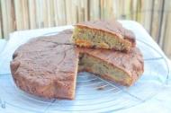 Recette gâteau abricots framboises