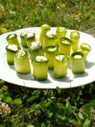 Recette roulé courgette, fromage, ail et fines herbes