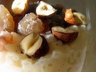 Recette riz au lait crémeux aux noisettes et châtaignes