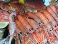 Recette queues de langoustines rôties à la crème de caviar