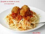 Recette spaghetti aux boulettes de viande à la sauce tomate