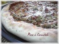 Recette pizza à l'orientale