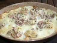 Recette gratin d'andouillette sur lit de pommes de terre