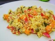 Recette quinoa gourmand facon risotto aux legumes et curry