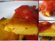 Recette polenta grillée aux tomates