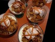 Recette verrines panna cotta, pommes et streusel