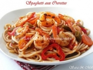 Recette spaghetti aux crevettes