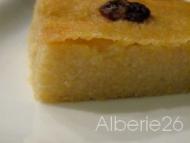 Recette gâteau de semoule à l'amande