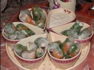 Recette rouleau de printemps saumon fumé et crème citronnée