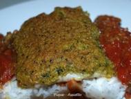 Recette dos de cabillaud en croute de curry