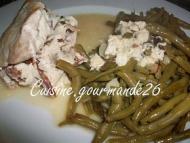 Recette roulés de poulet à la ricotta, tomates séchées sauce au marsala