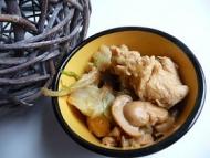 Recette poulet au chou chinois et champignons au thermomix
