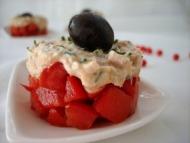 Recette tomates à la mousse de thon