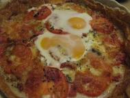 Recette tarte à la tomate express aux oeufs