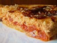Recette tarte safranée à la tomate