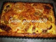 Recette tarte salée aux poireaux tomates séchées chèvre comté