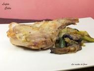 Recette lapin au confit de cidre, poêlée de champignons courgettes