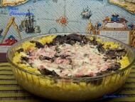 Recette gâteau de pâtes, champignons et lardons