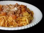 Recette fettucinis aux tomates et à la saucisse